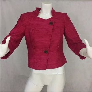 WORTH NYC blazer size 4, hot pink, 100% Silk!
